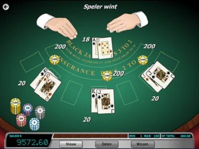 blackjack spelen bij oranje casino